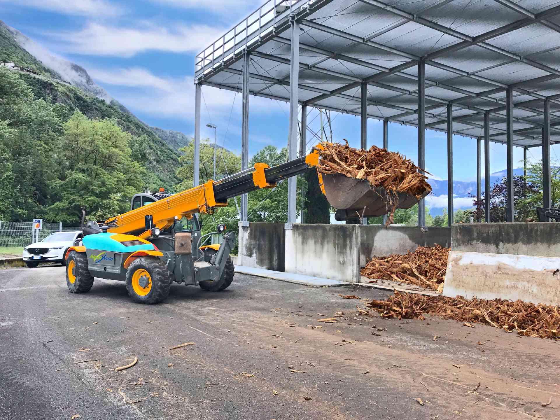 Biowood: posa del biofiltro